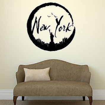 Wall Stickers New York City USA Art Room Vinyl Decal (ig2073)