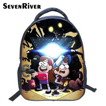 Cartoon Primary School Bags,Child Shoulder Bag Gravity Falls Kids Child Backpack School Back Pack for Boy Girl