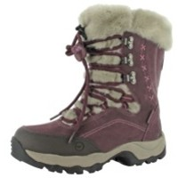 Hi-Tec St. Moritz Womens Snow Boots in Plum Dark Taupe
