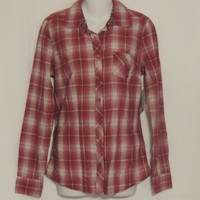 Flannel  Shirt Junior Size S Plaid New