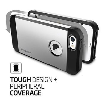 Spigen Tough Armor iPhone SE Case with Extreme Heavy Duty Protection and Air Cushion Technology for iPhone SE 2016 - Black