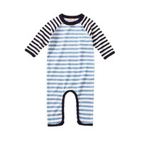 giggle Better Basics Long Sleeve Striped Footless Romper | giggle