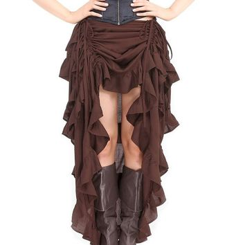 Steampunk Victorian Gothic Womens Costume Show Girl Skirt (Large)