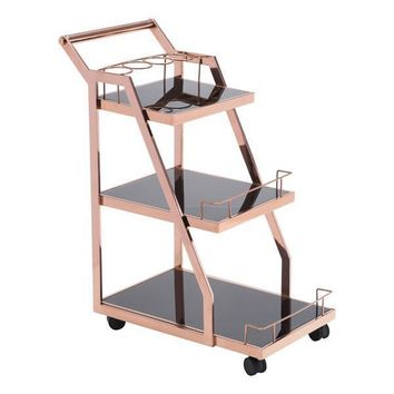 Acropolis Bar Cart in Rose Gold