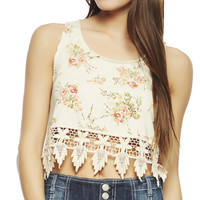 Crochet Hem Floral Tank | Wet Seal