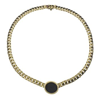 Bulgari Monete Roma Constantinus Ancient Coin Gold Necklace
