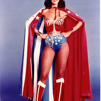 Wonder Woman Costume: Corset with Emblem, Tiara, Cuffs, Belt, Lasso, Choice of Briefs, Shorts or Skirt (no cape)...Hurry!
