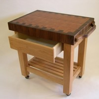 Butcher Block Work Island by SteckmestFurniture on Etsy
