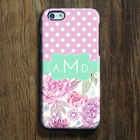 Pink Polka Dots Monogram iPhone 6 Case iPhone 6 plus Case Custom iPhone 5S Case iPhone 5C Case iPhone 4S Case Galaxy S6 Edge S5 S4 Case 120