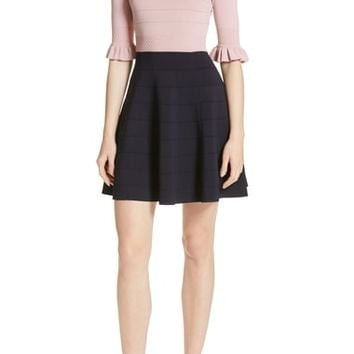 Ted Baker London Dyana Frilled Knit Minidress | Nordstrom