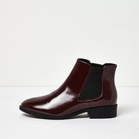 Dark red patent Chelsea boots - boots - shoes / boots - women