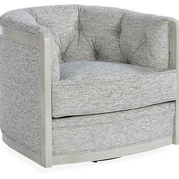 Everett Swivel Chair, Cloud - Michael Thomas Collection - Brands | One Kings Lane