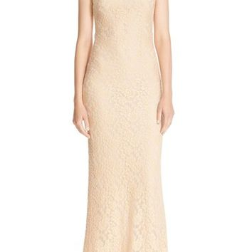 Alice + Olivia 'Sachi' Open Back Lace Maxi Dress | Nordstrom
