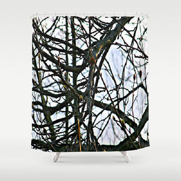 Trees, Nature, Renewal, Spring, Transition - Decorative Shower Curtain-Machine Washable - Decor, New Home or Apartment -Made To Order-RNL#81