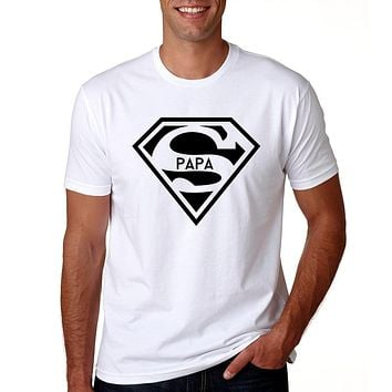 7073b6652 2018 Super Papa T-shirt Fathers Day Gift New Dads Funny T Shirt
