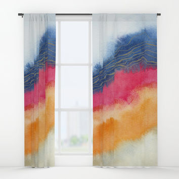 Improvisation 63 Window Curtains by vivigonzalezart