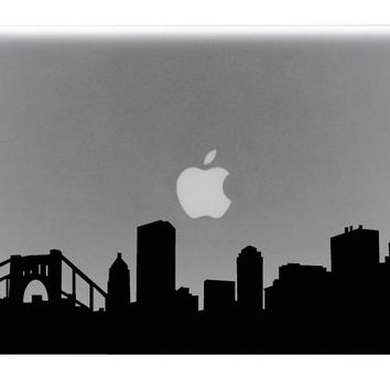 Pittsburgh Skyline Macbook Decal / Macbook Sticker / Laptop Decal