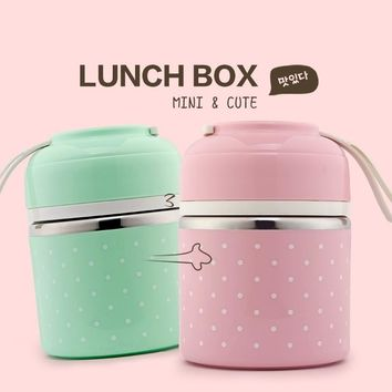 A Portable Stainless Steel Lunch Box