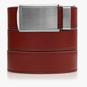 Red Genuine Leather Golf Belts