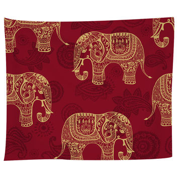 Paisley Elephants Tapestry