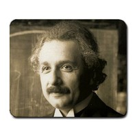 Albert Einstein 1921 Portrait Large Mousepad