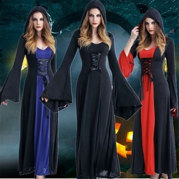 New Women Medieval Dress Renaissance Lace Up Vintage Style Gothic Dress Floor Length Women Cosplay Dresses Retro Gown