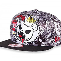 New Era X Tokidoki PASTED Rare All Over Printed except Bill Snapback Hat Cap ...