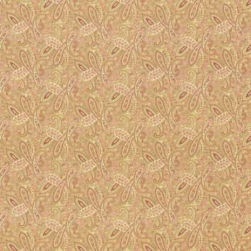 Kasmir Fabric Willow Paisley Vintage Gold