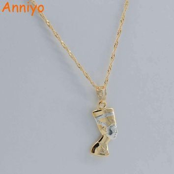 Ancient Egyptian Queen Necklace Pendant Gold Color/Silver