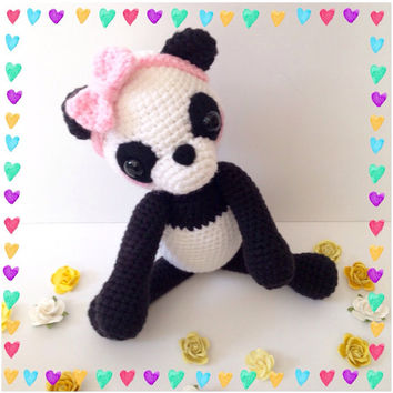 Amigurumi Panda Amigurumi Bear Crochet Toy Panda Stuffed Animal Kids Toy Nursery Decor Kawaii Toy Plush Baby Shower Birthday Gift Ideas