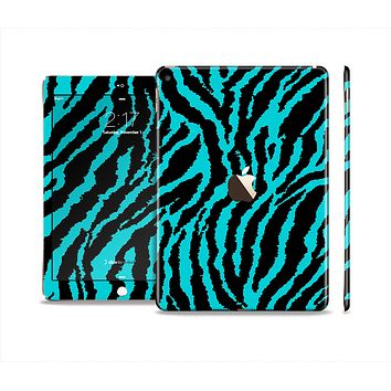 The Vector Teal Zebra Print Skin Set for the Apple iPad Air 2