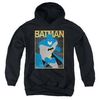Batman - Simple Bm Poster Youth Pull Over Hoodie