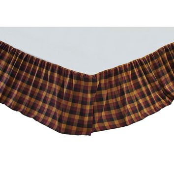 Heritage Farms Primitive Check Bed Skirt