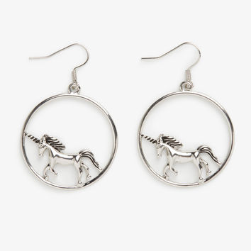 Monki | New accessories | Unicorn hoop earrings