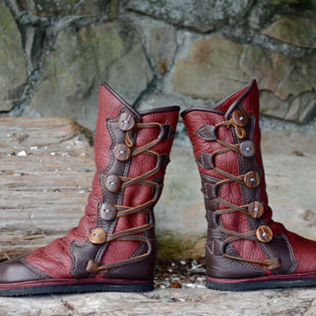 Salt Spring Island Moccasins - Leather Women's Boots - Custom Women Boots - Custom Men's Boots - Leather Moccasin Boots - Renaissance Boots