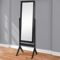 Best Choice Products Cheval Floor Mirror Bedroom Home Furniture- Black - Walmart.com