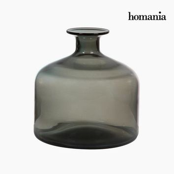 Vase Crystal Grey (23,5 x 23,5 x 24 cm) by Homania