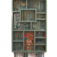 Wall Jewelry Organizer, Earring Holder