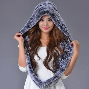 VONESC6 2016 Rex Rabbit Fur Women Cap Real Fur Genuine Caps New Adult Warm Elegant Casual Beanies Hat