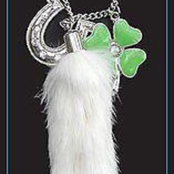 Lucky Charm Rabbits Foot Horseshoe Clover Rear View Mirror Auto Ornaments