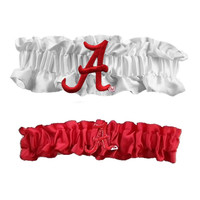 Alabama Crimson Tide NCAA Garter Set One to Keep One to Throw (White-Red)