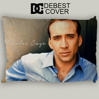 Nicolas Cage Blue Shirt Pillow Case In 20 x 30 Inches