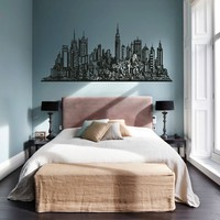 ik1166 Wall Decal Sticker new york city american bedroom children