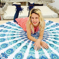 Indian Round Mandala Roundie Beach Throws Towel Yoga Mat Bohemian Table Cloths 10262 150*153cm
