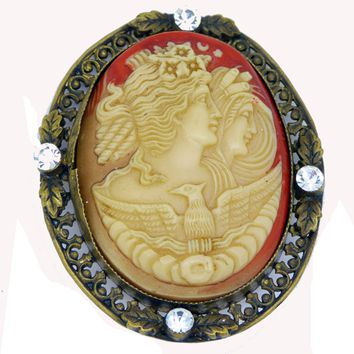 Vintage Finely Carved Celluloid Cameo