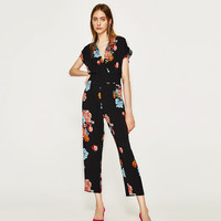 FLORAL PRINT JUMPSUIT Look+: 1 of 1