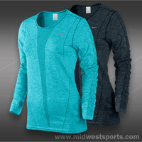 nike womens tennis long sleeve top, Nike Dri-FIT Long Sleeve Top Ho13_520294, mi