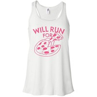 Will Run For Pizza (Pink Ink) Tank Top