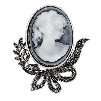 Vintage Brooches Fashionable Pretty Beauty Queen Antique Cameo B ef158621e7ee