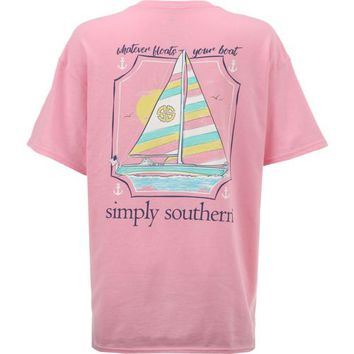 Simply Southern Women's Boat T-shirt | Academy